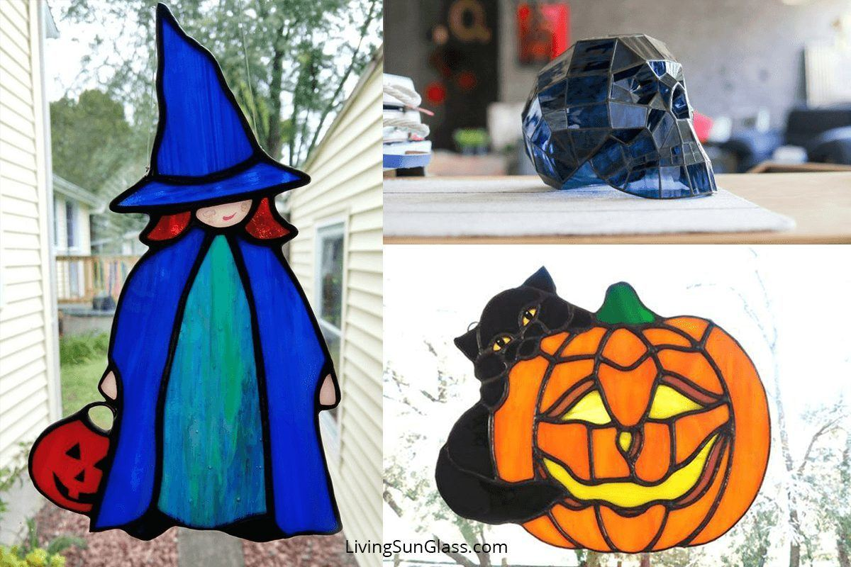 Halloween Stained Glass Living Sun Glass